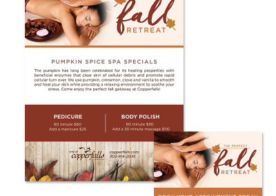 Copperfalls Pumpkin Spice Specials for print and social media