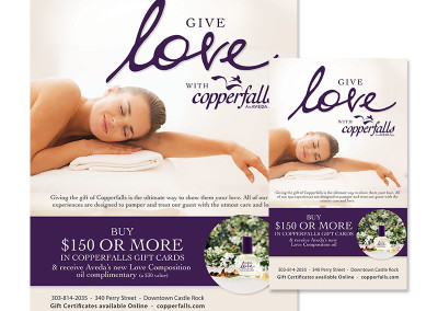 Copperfalls Valentines Gift Certificate Promotion