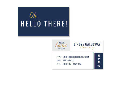 Lindye Galloway Design Business Cards