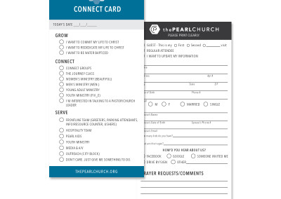 The Pearl Church Connect Card